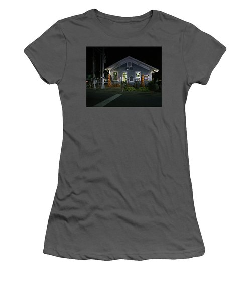 Bryson City Train Station Women's T-Shirt (Junior Cut) by Lamarre Labadie