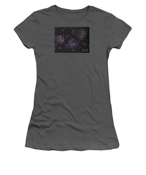 Bubble Wand Women's T-Shirt (Junior Cut) by Dawn Fairies