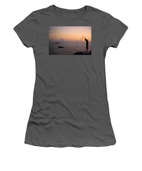 Bubbles On The Beach Women's T-Shirt (Athletic Fit)