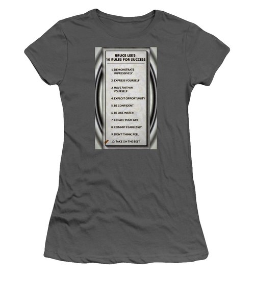 Buce Lee 10 Rules Of Success Women's T-Shirt (Athletic Fit)