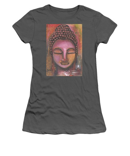 Buddha In Shades Of Purple Women's T-Shirt (Athletic Fit)