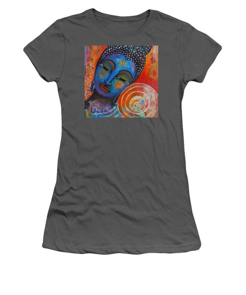 Buddha Women's T-Shirt (Junior Cut) by Prerna Poojara