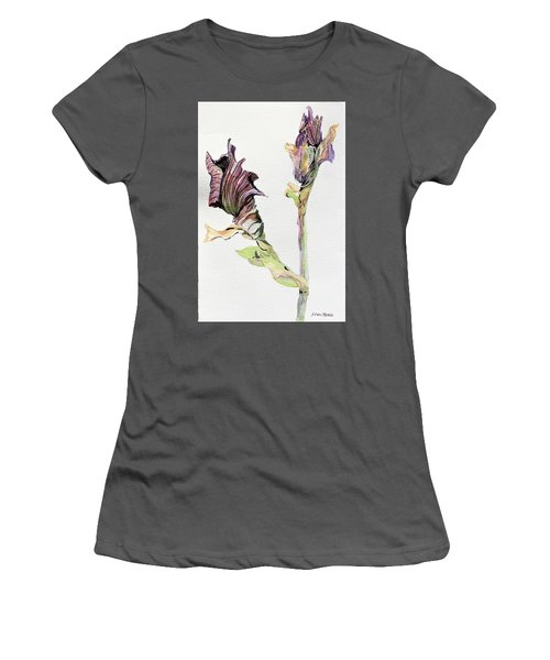 Budding Irises Women's T-Shirt (Athletic Fit)