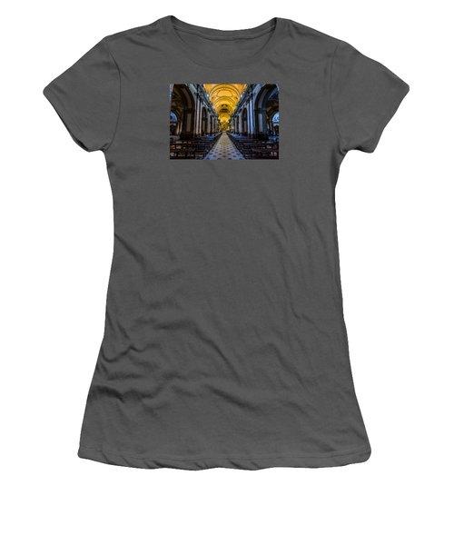 Buenos Aires Metropolitan Cathedral Women's T-Shirt (Junior Cut) by Randy Scherkenbach