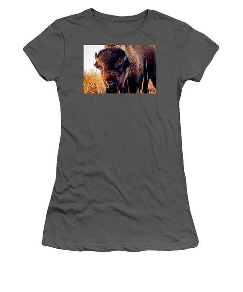 Buffalo Face Women's T-Shirt (Athletic Fit)