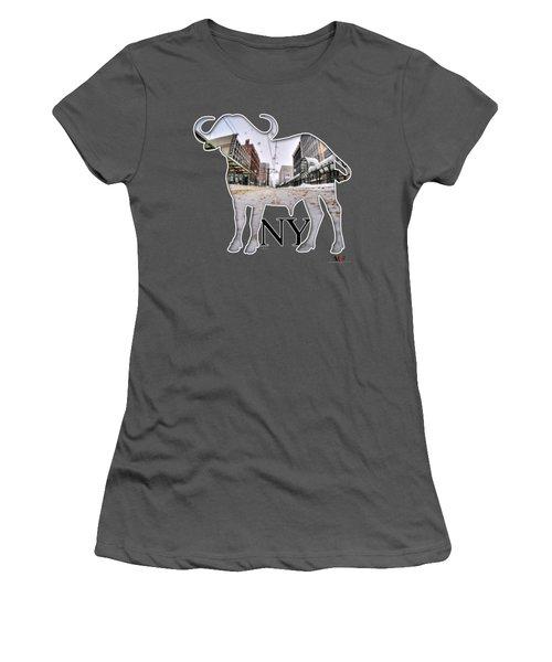 Buffalo Ny Snowy Main St Women's T-Shirt (Athletic Fit)