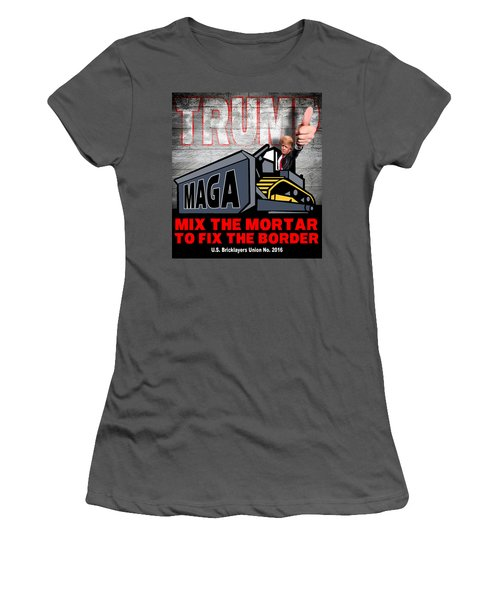 Build The Wall Women's T-Shirt (Junior Cut) by Don Olea