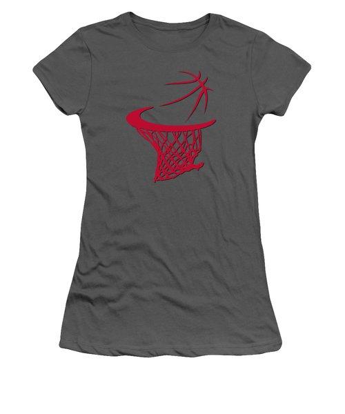 Bulls Basketball Hoop Women's T-Shirt (Junior Cut) by Joe Hamilton