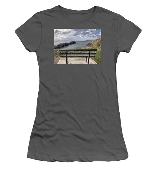 Bundoran - View Over The Diving Platform At Rougey Rocks Women's T-Shirt (Athletic Fit)