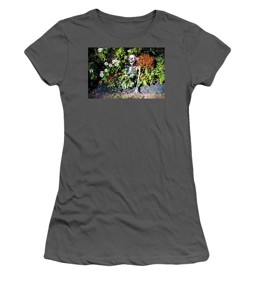 Women's T-Shirt (Junior Cut) featuring the photograph Buried Alive - Skeleton Garden by Colleen Kammerer