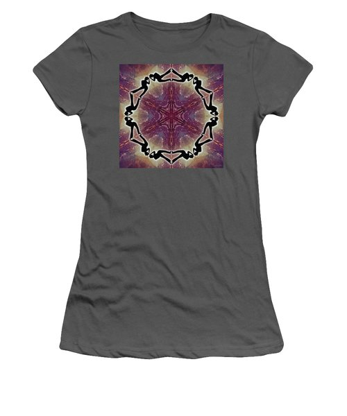 Women's T-Shirt (Athletic Fit) featuring the digital art Burning Movement by Derek Gedney