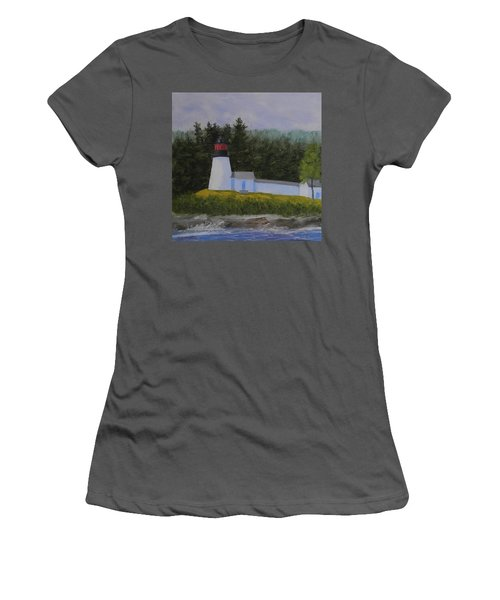 Burnt Island Light Women's T-Shirt (Athletic Fit)
