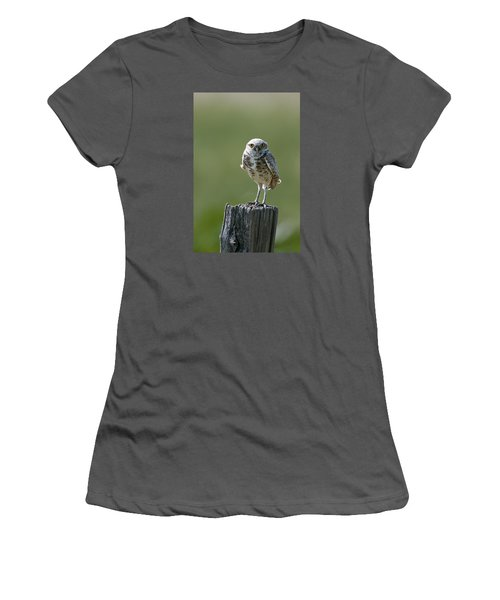 Women's T-Shirt (Junior Cut) featuring the photograph Burrowing Owl by Gary Lengyel