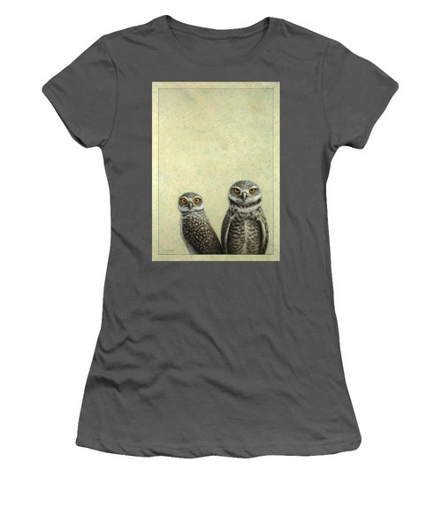 Burrowing Owls Women's T-Shirt (Athletic Fit)