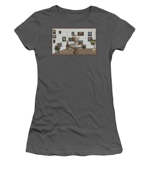 Bust Of The Spirit Of Einstein 1 Women's T-Shirt (Junior Cut) by Pemaro