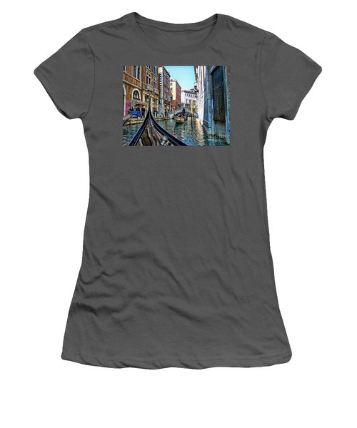 Women's T-Shirt (Junior Cut) featuring the photograph Busy Canal by Roberta Byram
