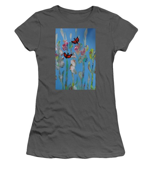 Butterfly Glads Women's T-Shirt (Athletic Fit)