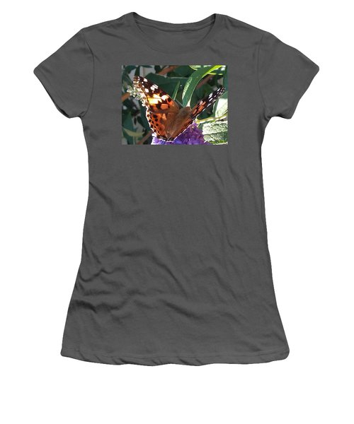 Butterfly Landing Women's T-Shirt (Athletic Fit)