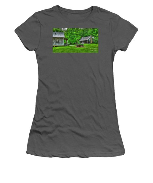 Women's T-Shirt (Junior Cut) featuring the photograph Cabin Fever Great Smoky Mountains Art by Reid Callaway