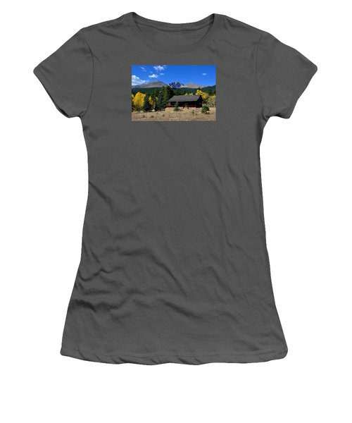 Cabin With A View Of Long's Peak Women's T-Shirt (Athletic Fit)