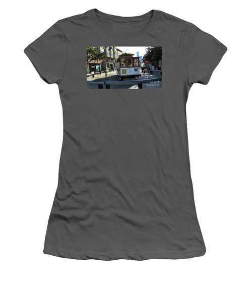 Women's T-Shirt (Junior Cut) featuring the photograph Cable Car Turnaround by Steven Spak