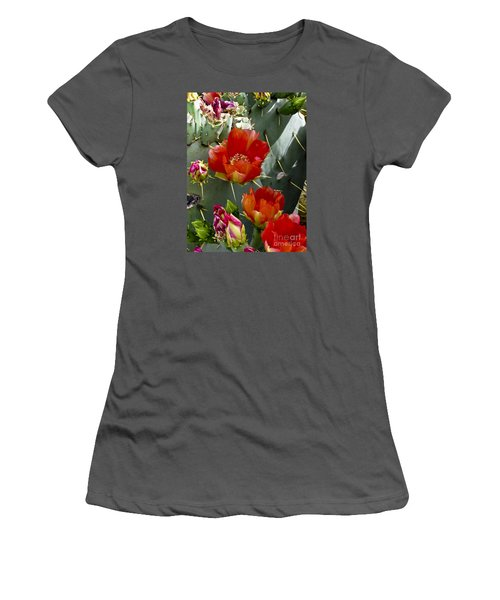 Cactus Blossom Women's T-Shirt (Junior Cut) by Kathy McClure