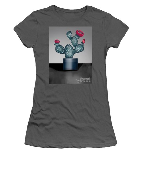 Cactus In Bloom II Women's T-Shirt (Athletic Fit)