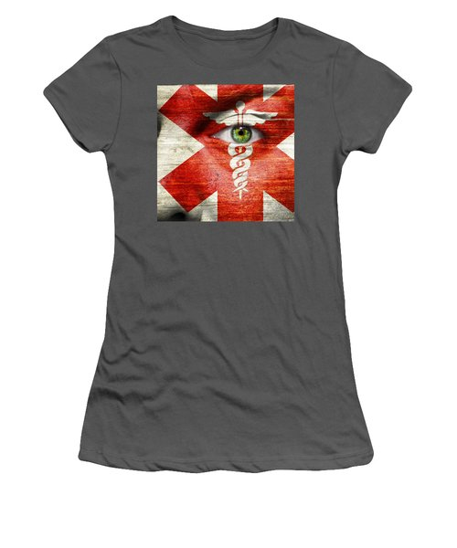 Caduceus  Women's T-Shirt (Athletic Fit)