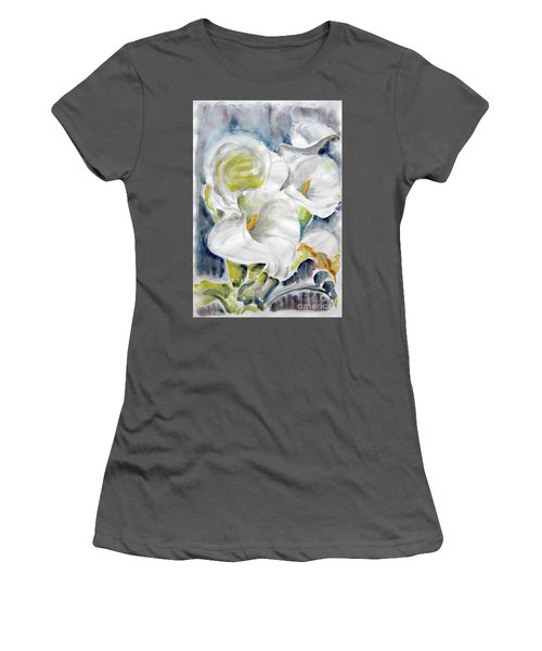 Women's T-Shirt (Junior Cut) featuring the painting Calla by Jasna Dragun