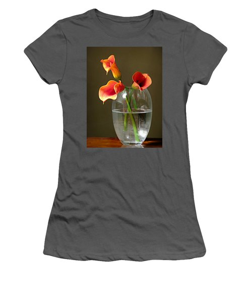 Calla Lily Stems Women's T-Shirt (Athletic Fit)