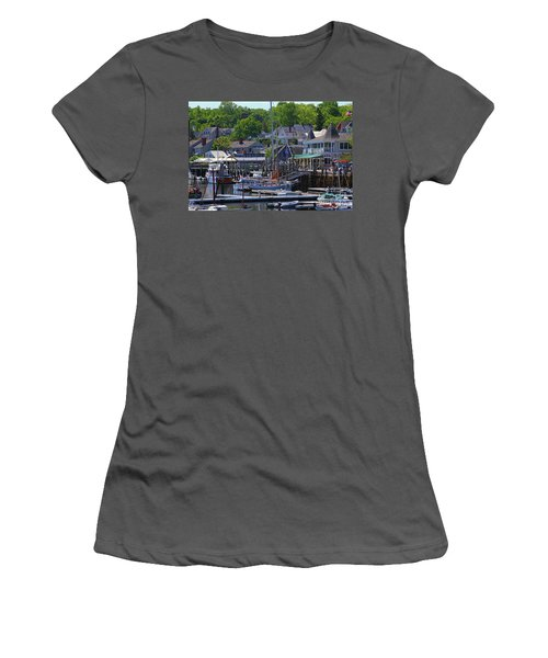 Camden Village Maine Women's T-Shirt (Athletic Fit)