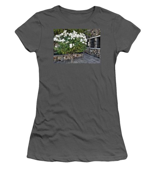 Camellia Blossoms Women's T-Shirt (Athletic Fit)