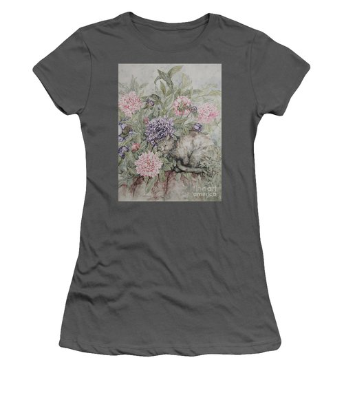 Camouflaged Women's T-Shirt (Junior Cut) by Kim Tran