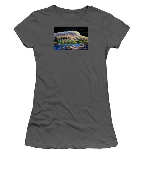 Camping In The Moonlight Women's T-Shirt (Athletic Fit)