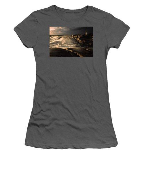 Canada Nova Scotia Peggy's Cove Women's T-Shirt (Athletic Fit)