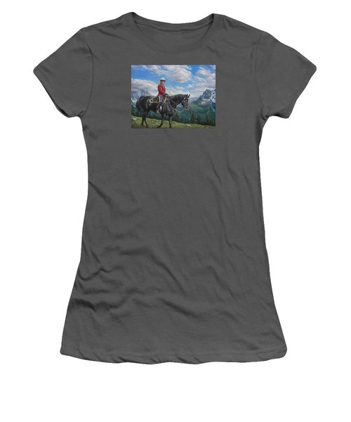 Women's T-Shirt (Junior Cut) featuring the painting Canadian Majesty by Kim Lockman