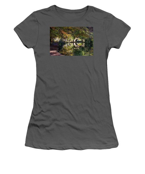 Canal Path In Autumn Women's T-Shirt (Athletic Fit)