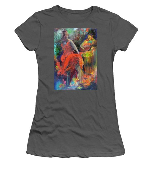 Women's T-Shirt (Junior Cut) featuring the painting Cantina Serenade by Keith Thue