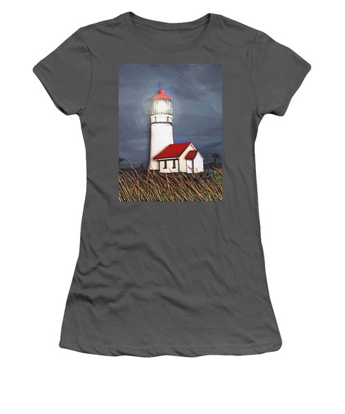 Cape Blanco Glow Women's T-Shirt (Junior Cut) by Wendy McKennon