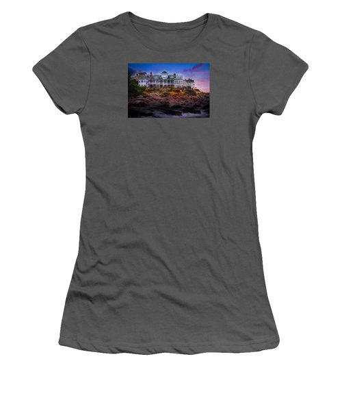 Women's T-Shirt (Junior Cut) featuring the photograph Cape Neddick Maine Scenic Vista by Shelley Neff
