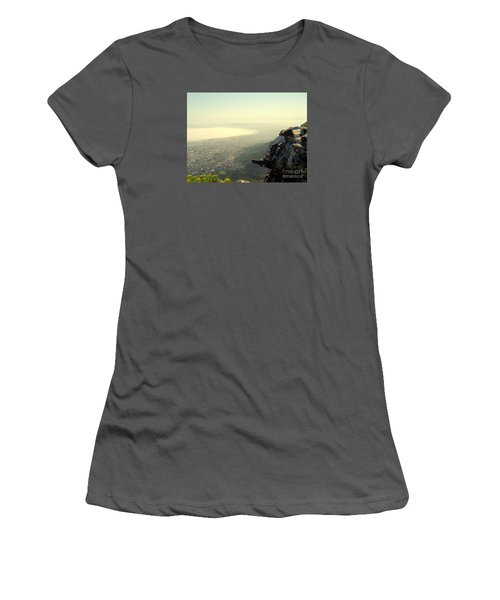 Cape Town View From Table Rock Women's T-Shirt (Junior Cut) by John Potts