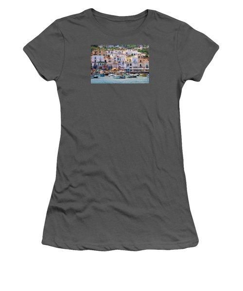 Capri Boat Harbor Women's T-Shirt (Athletic Fit)