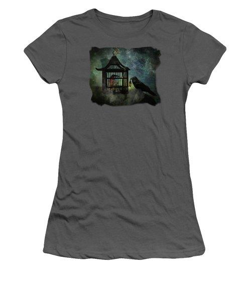 Captivity Women's T-Shirt (Junior Cut) by Terry Fleckney