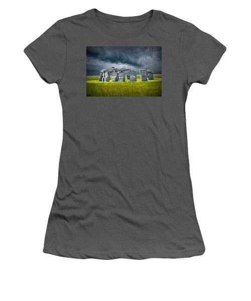 Car Henge In Alliance Nebraska After England's Stonehenge Women's T-Shirt (Athletic Fit)