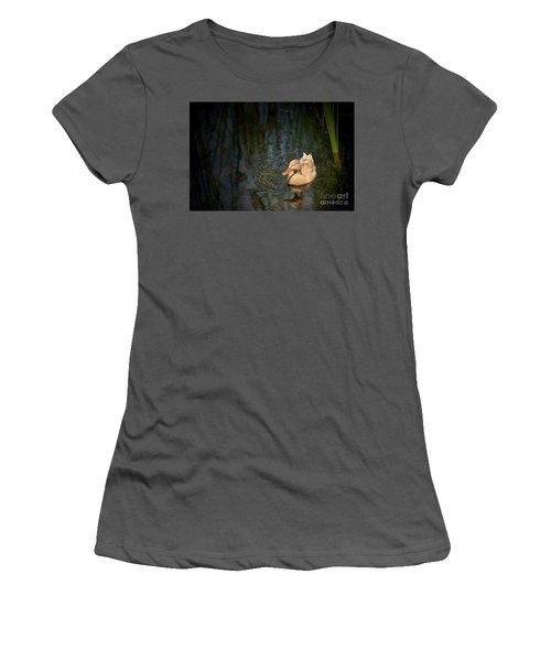 Caramel Mallard Women's T-Shirt (Junior Cut)