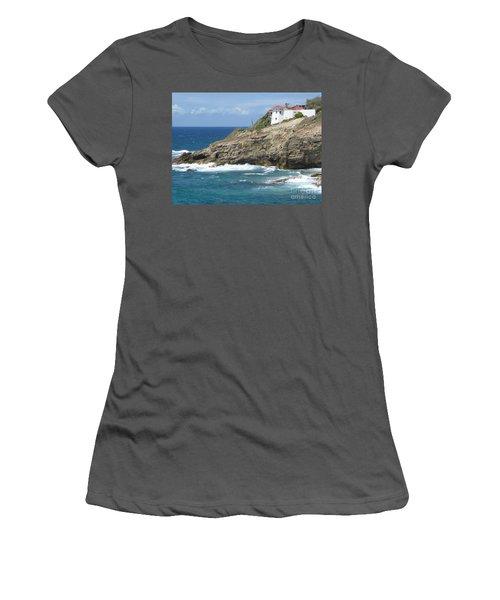 Caribbean Coastal Villa Women's T-Shirt (Junior Cut) by Margaret Brooks