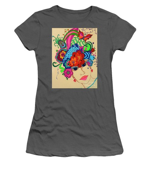 Women's T-Shirt (Junior Cut) featuring the painting Carmen by Alison Caltrider