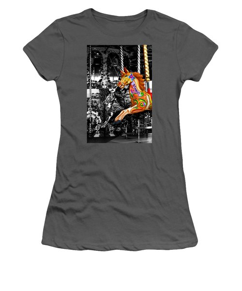 Carousel In Isolation Women's T-Shirt (Athletic Fit)