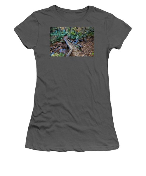 Carpet Of Leaves Women's T-Shirt (Junior Cut) by Dale R Carlson