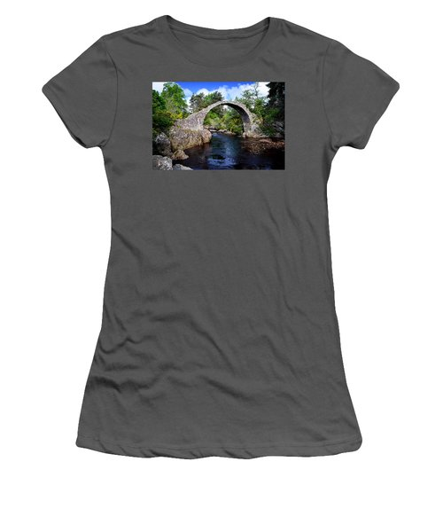 Carr Bridge Scotland Women's T-Shirt (Athletic Fit)